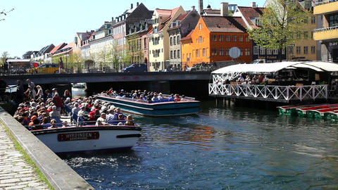 Christianshavns canal Stock Video Footage