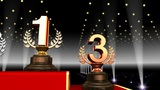 Podium Prize Trophy Aa3 HD stock footage