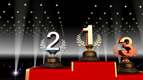 Podium Prize Trophy Aa3 HD Animation