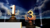 Podium Prize Trophy Aa5sky HD stock footage