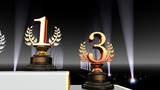 Podium Prize Trophy Ab4 HD stock footage