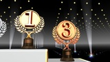 Podium Prize Trophy Ac4 HD stock footage