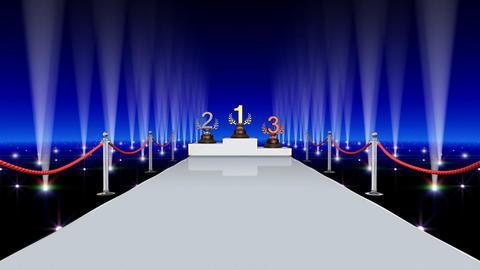 Podium Prize Trophy Ba4 HD Stock Video Footage