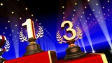 Podium Prize Trophy Ca3 HD stock footage