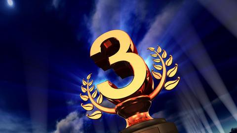Podium Prize Trophy Ca5sky HD Stock Video Footage