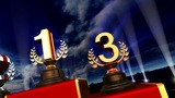 Podium Prize Trophy Ca5sky HD stock footage