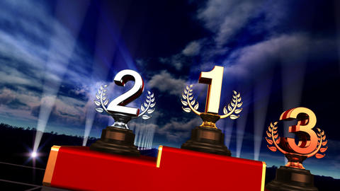 Podium Prize Trophy Ca5sky HD Animation