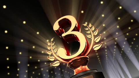 Podium Prize Trophy Cb4 HD Stock Video Footage