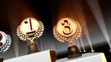 Podium Prize Trophy Cc4 HD stock footage