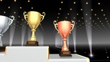 Podium Prize Trophy Cup Aa4 HD stock footage