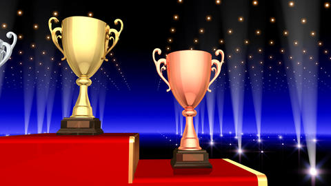 Podium Prize Trophy Cup Ba3 HD stock footage