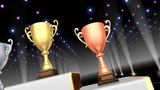 Podium Prize Trophy Cup Ca4 HD stock footage