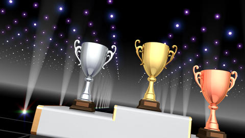 Podium Prize Trophy Cup Ca4 HD Animation