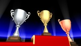 Podium Prize Trophy Cup Ea3 HD stock footage