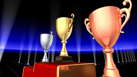 Podium Prize Trophy Cup Ea3 HD Animation