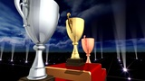 Podium Prize Trophy Cup Ea5Sky HD stock footage