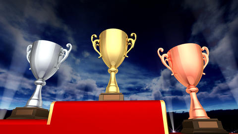 Podium Prize Trophy Cup Ea5Sky HD Animation