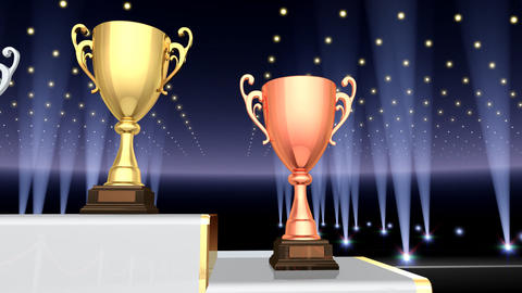 Podium Prize Trophy Cup Fa4 HD Animation