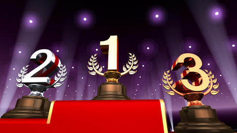 Podium Prize Trophy Ea3 HD Animation