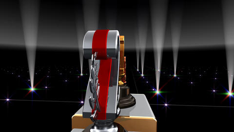 Podium Prize Trophy Eb4 HD Stock Video Footage