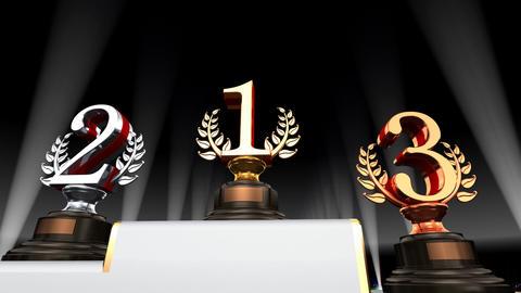 Podium Prize Trophy Eb4 HD Animation