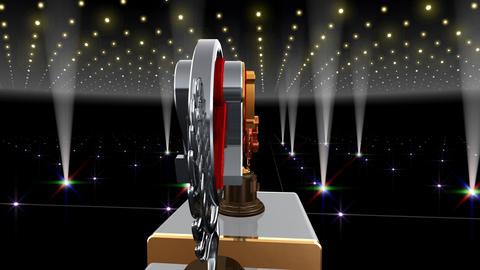 Podium Prize Trophy Ec4 HD Stock Video Footage