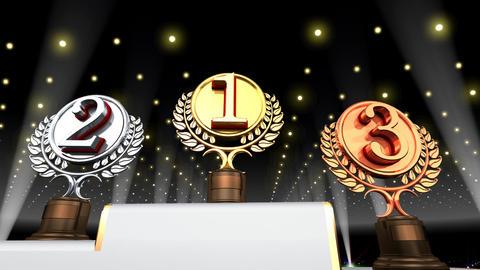 Podium Prize Trophy Ec4 HD stock footage
