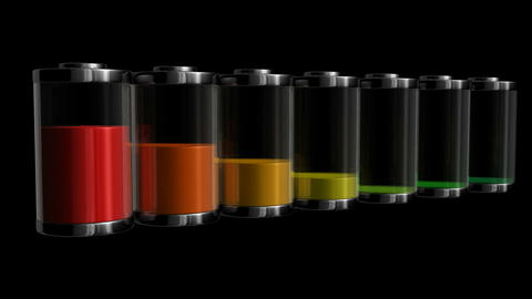 battery level Stock Video Footage