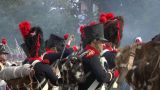 Fighting French Foot Gunner 05 stock footage
