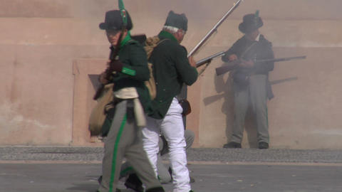 fighting french soldier 01 Stock Video Footage