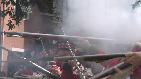 fighting scottish soldier 01 Stock Video Footage