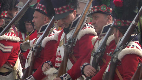 fighting scottish soldier 03 Stock Video Footage
