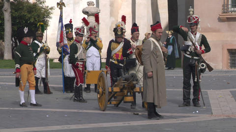 french artillery 01 Stock Video Footage