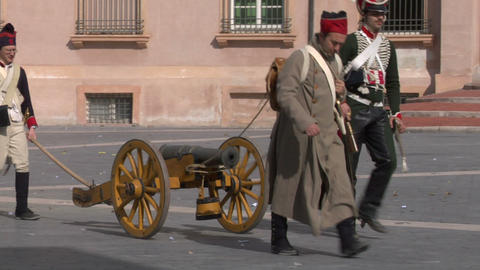 french artillery 03 Stock Video Footage