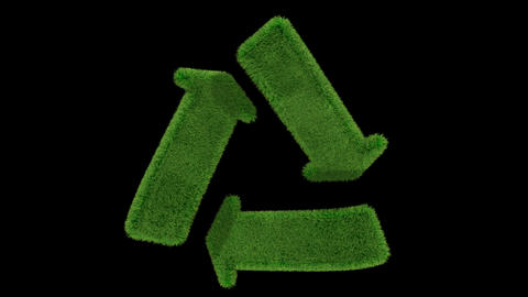 recycle grass loop CG動画素材