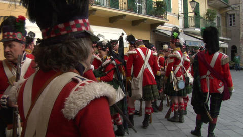 scottish soldier 02 Stock Video Footage