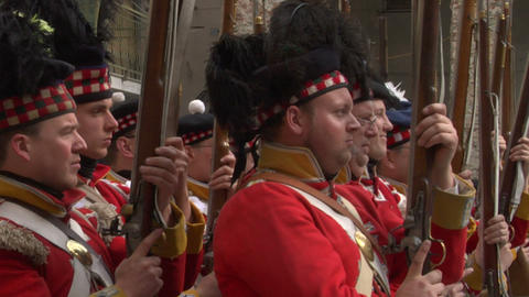 scottish soldier 04 Stock Video Footage