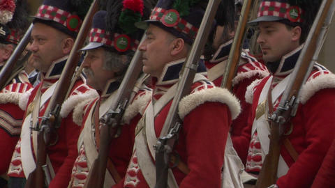 scottish soldier 06 Stock Video Footage