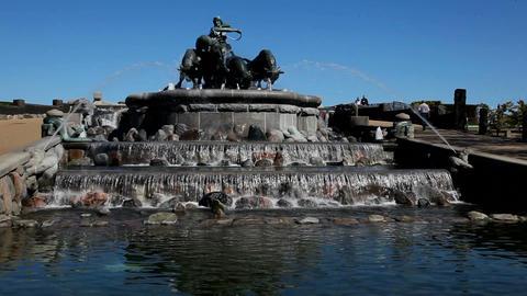 Gefion Fountain Stock Video Footage