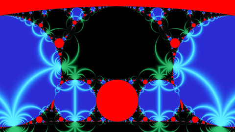 Bright fractal pattern Stock Video Footage