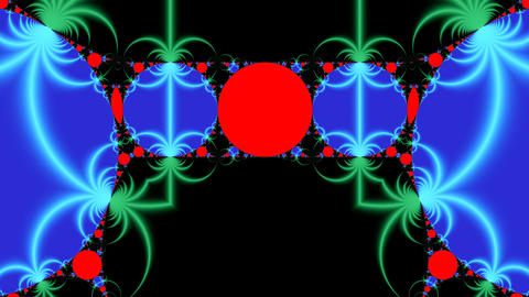 Bright fractal pattern Animation