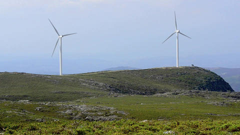 Wind turbine farm Stock Video Footage