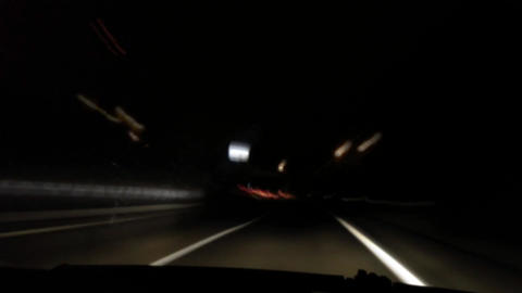 Freeway driving at night Stock Video Footage