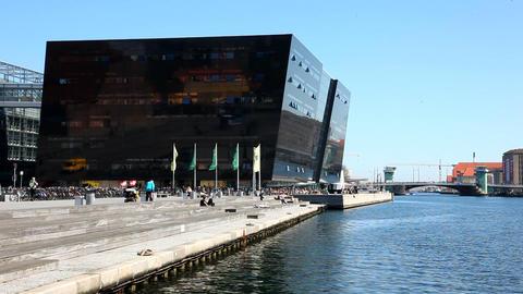 Waterfront in Copenhagen Stock Video Footage
