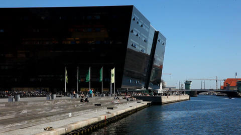 Royal Library Copenhagen Stock Video Footage
