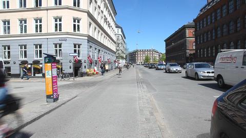 Traffic in Copenhagen Stock Video Footage