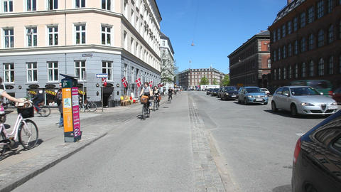 Traffic in Copenhagen Stock Video Footage