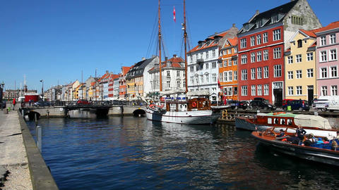 Nyhavn Copenhagen Stock Video Footage