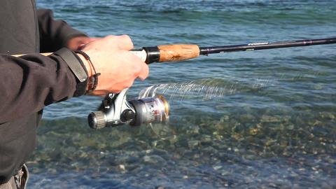 Fishing reel Stock Video Footage