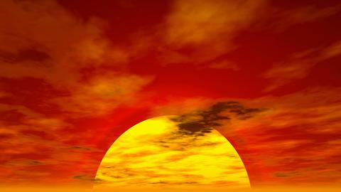 Sunset cloudscape Stock Video Footage